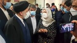 گفتگوی سید ابراهیم رئیسی با مردم و کادر درمان در بیمارستان میلاد