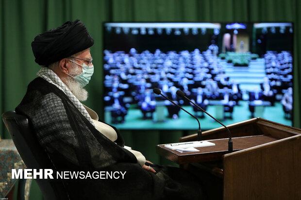 ارتباط تصویری نمایندگان مجلس شورای اسلامی با رهبر معظم انقلاب