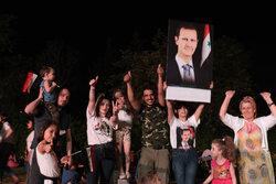 شام کے صدارتی انتخابات میں بشار اسد کی کامیابی کے بعد شامی عوام کا جشن