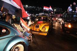 جشن خیابانی مردم سوریه پس از پیروزی اسد در انتخابات ریاست جمهوری