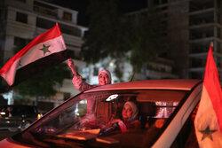 احتفالات السوريين بفوز بشار الاسد/ بالصور