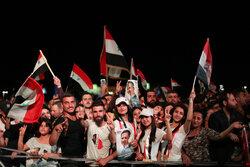 Suriye'de seçim kutlamaları