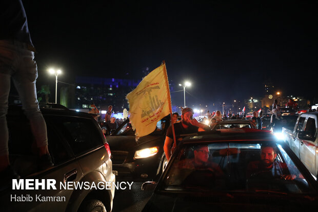 احتفالات السوريين بفوز بشار الاسد