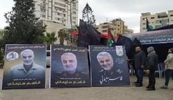 صور الشهيد سليماني تُزيّن مهرجان النصر في غزة