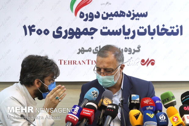 Iran 2021 Presidential Candidate Zakani holds presser at MNA