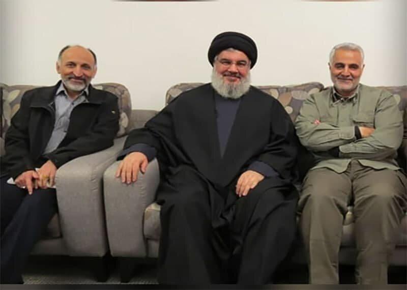 Gen. Hejazi alongside Nasrallah, Lt. Gen. Soleimani