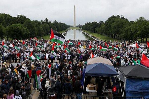 """Washington'da """"Filistin'e destek"""" gösterisi"""