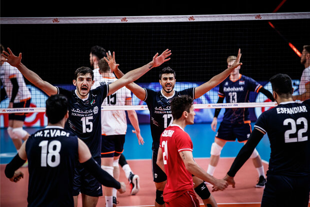 Iran volleyball win Netherlands in 3 direct sets in 2021 VNL