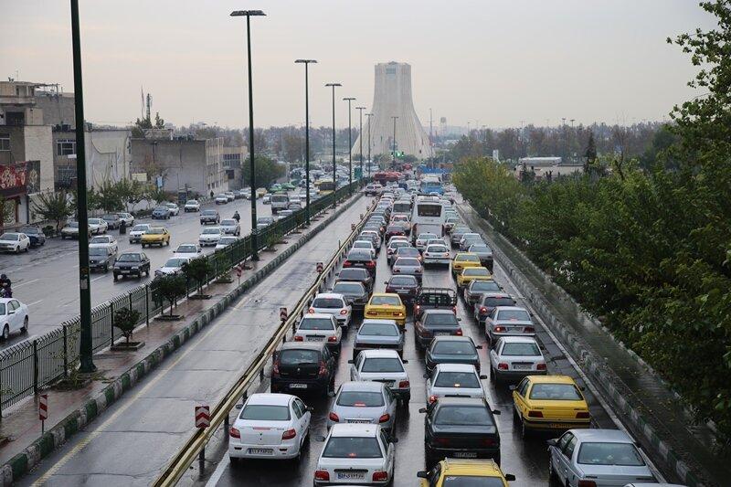 وضعیت ترافیکی شهر تهران در پنجمین روز از تعطیلات شش روزه
