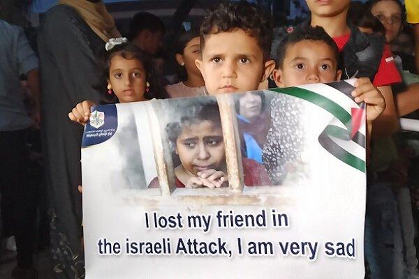 Gazze'de şehit olan 66 çocuk anıldı