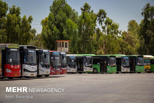 تحصن جمعی از رانندگان اتوبوس های شهری شیراز