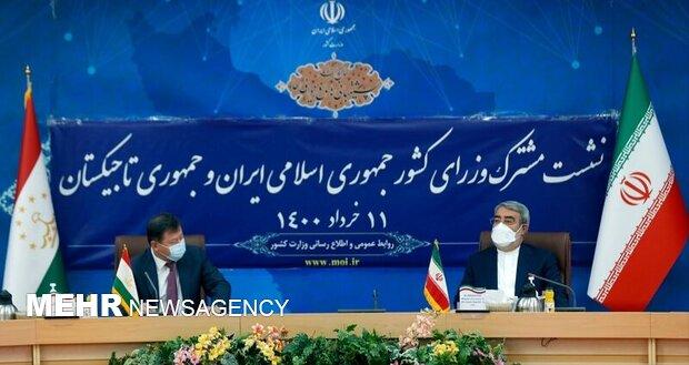 ایران اور تاجیکستان کے وزراء داخلہ کا باہمی تعاون کو فروغ دینے کا عزم