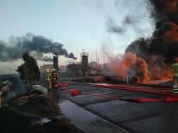 İran'da petrol rafinerisinde yangın çıktı