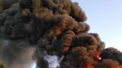 آتش سوزی در یک شرکت تولیدی در غرب تهران
