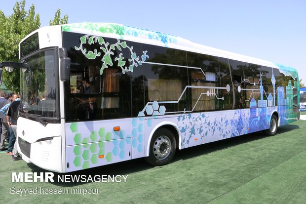 First home-made electronic bus unveiled in Mashhad