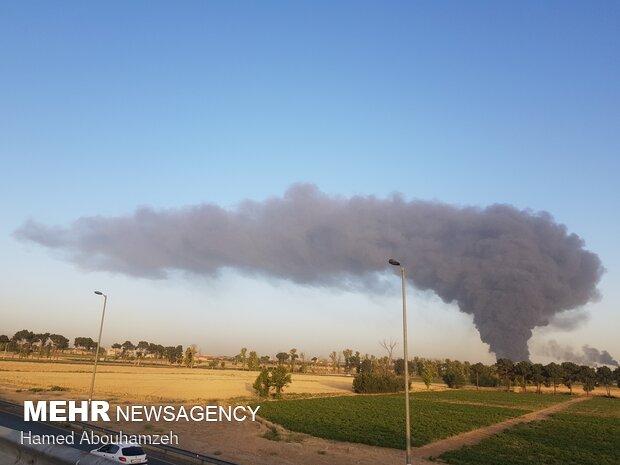 Oil refinery on fire in S Tehran
