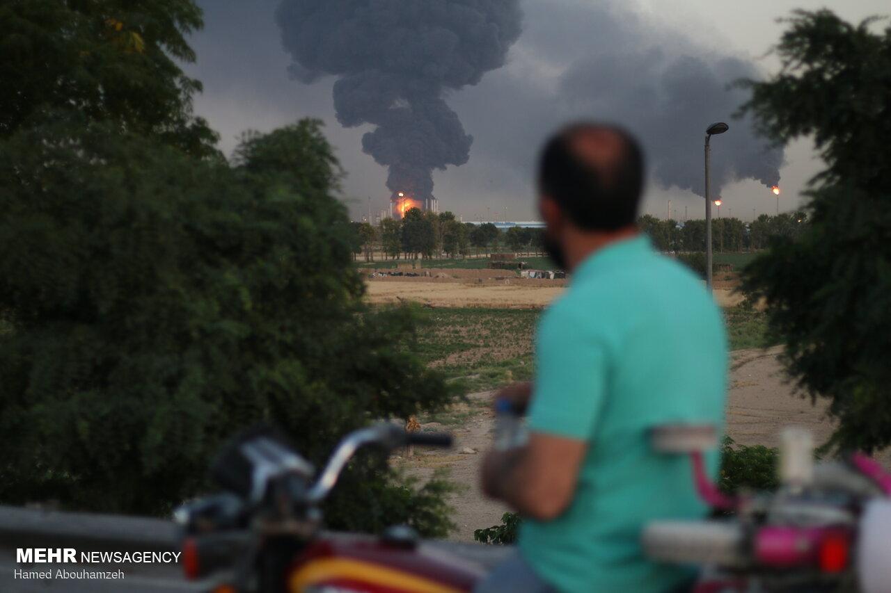 مخازن گاز مایع و خطوط ارتباطی در پالایشگاه تهران دچار حریق شدند