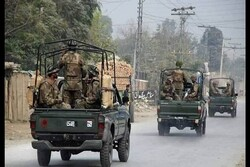 One military force killed in bomb blast in Pakistan