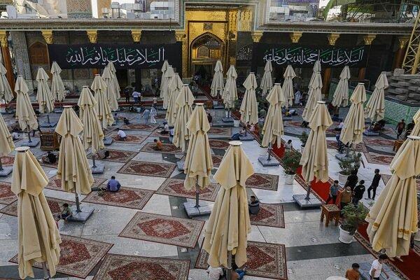 حرم کاظمین در سوگ شهادت موسس مذهب جعفری سیاه پوش شد