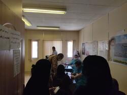 راه اندازی بیمارستان صحرایی در روستای نگل سنندج