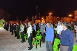 مراسم ارتحال امام خمینی در لامرد