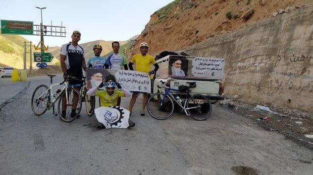 تیم دوچرخه سواری مازندران روانه مرقد مطهر حضرت امام شد