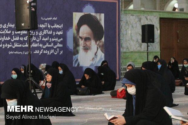 قرائت دعای پرفیض ندبه در حرم امام خمینی (ره)
