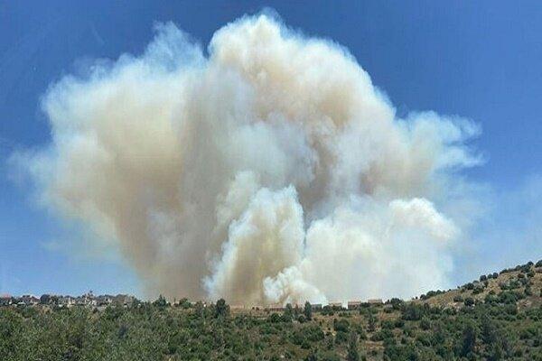 وقوع آتش سوزی بزرگ در جنوب غرب «قدس اشغالی»