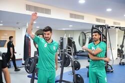 تمرین صبح تیم ملی فوتبال ایران در سالن وزنه برگزار شد