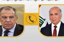 وزیران خارجه عراق و روسیه درباره تحولات خاورمیانه رایزنی کردند