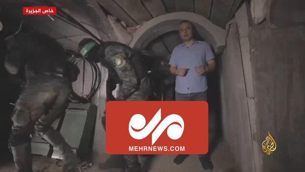 Gazze'deki gizli tünellerden görüntüler