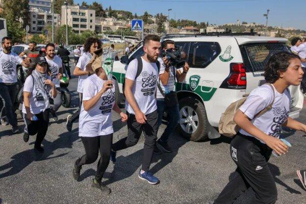 برگزاری ماراتن فلسطینیان در حمایت از محله شیخ جراح در قدس اشغالی