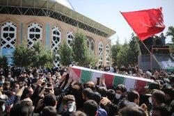 مدافع حرم شہید حسن عبداللہ زادہ کی تشییع جنازہ