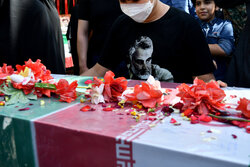 بوستان اندیشہ میں دوگمنام شہیدوں کی تشیع جنازہ