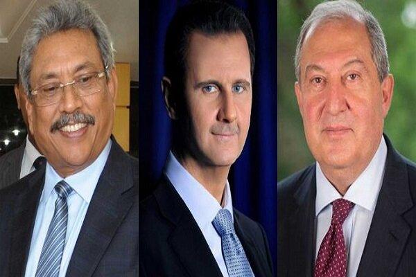 سریلانکا و ارمنستان پیروزی «اسد» در انتخابات سوریه را تبریک گفتند