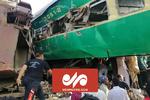 پاکستان کے جنوب میں دو مسافر ٹرینوں میں تصادم