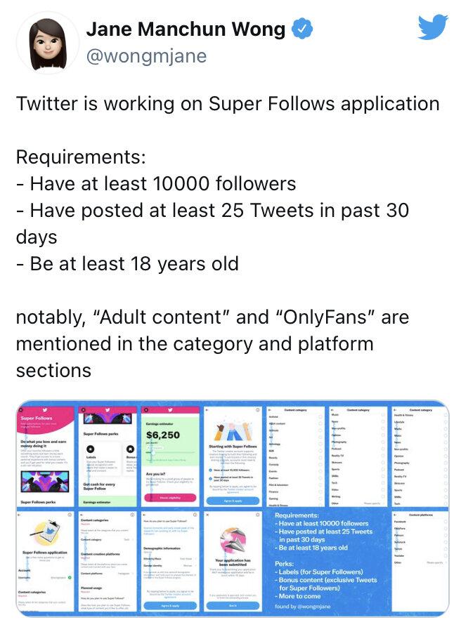 دسترسی به محتوای کاربران با بیش از ۱۰هزار فالوئر پولی می شود