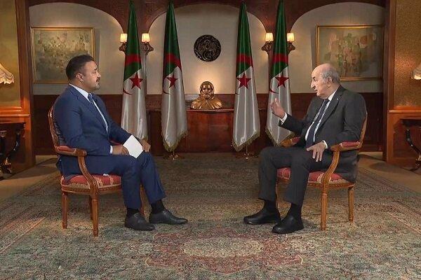 موضع گیری رئیس جمهور الجزایر درباره فلسطین و لیبی