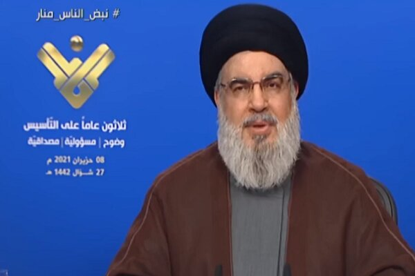 Nasrallah ends speculations over his health by TV speech