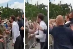 VIDEO: President Macron slapped in face in visit to S France