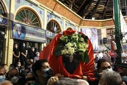 مراسم تشییع  مدیر تکیه بزرگ تجریش  برگزار شد