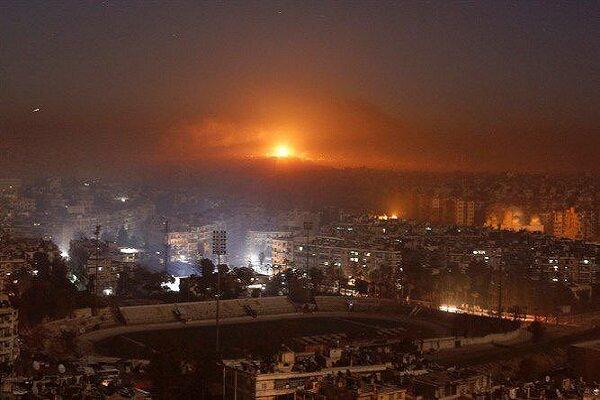 مقابله مؤثر پدافند هوایی سوریه با حمله هوایی ارتش رژیم صهیونیستی