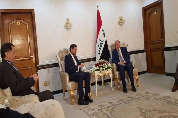 Iran spox discusses bilateral ties with Iraqi FM in Baghdad