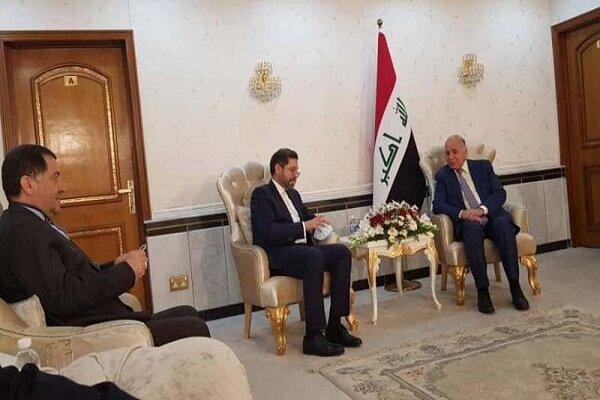 خطيب زادة يجري مباحثات مع وزير الخارجية العراقي