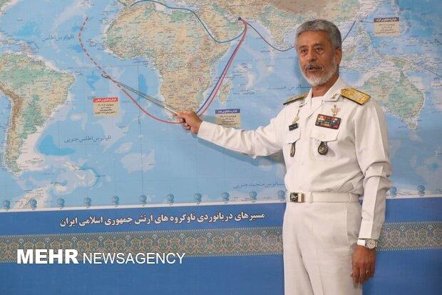 سيّاري: يعلن عن دخول اول مجموعة بحرية ايرانية مياه المحيط الاطلسي