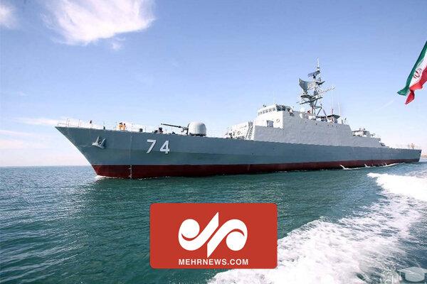 ناوشکن تمام ایرانی سهند در اقیانوس اطلس
