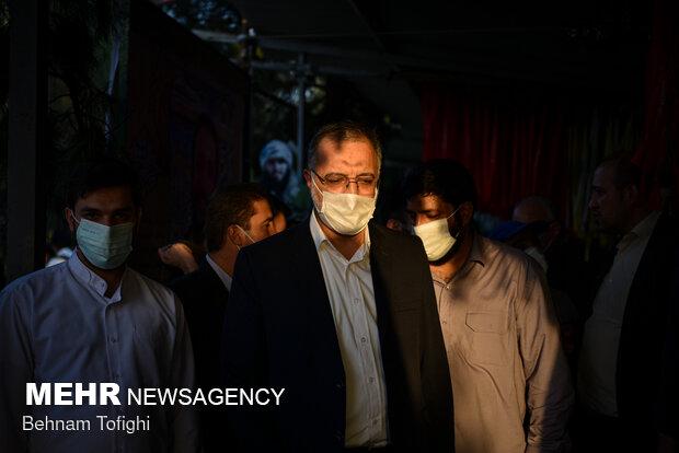 دیدار علیرضا زاکانی با مردم در گلزار شهدا