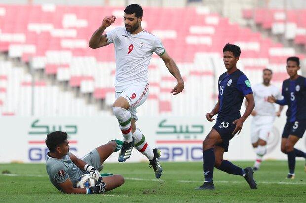Iran defeats Cambodia 10-0 in FIFA World Cup Qualification