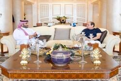 «عبدالفتاح السیسی» و «محمد بن سلمان» با یکدیگر دیدار کردند