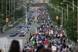 مظاهرات الكنديين دعما للمسلمين الذين تعرضوا للاعمال الارهابية